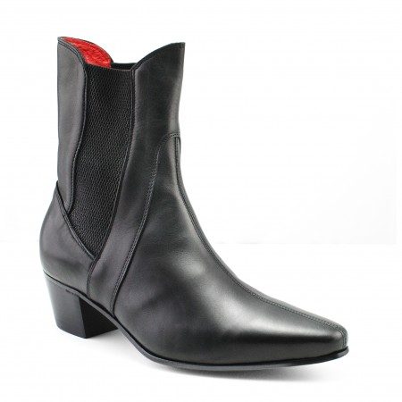 Sale : High Point Boot - Black Calf Leather