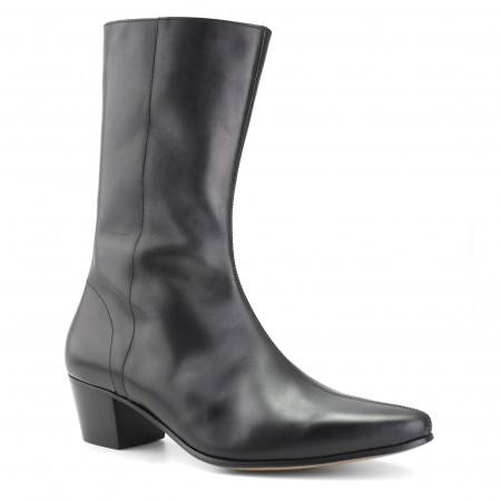 High Lennon Boot - Black Calf Leather
