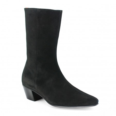 High Lennon Boot - Black Suede