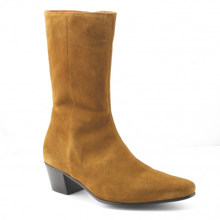 Discontinued : High Lennon Boot - Tan Suede