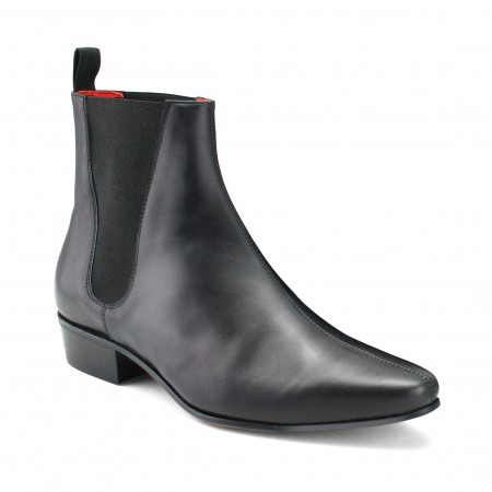 Low Cavern Boot - Black Calf Leather