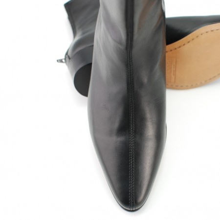 Sale : Back Zip Boot - Black Calf Leather-42 (UK 8 / US 8.5)