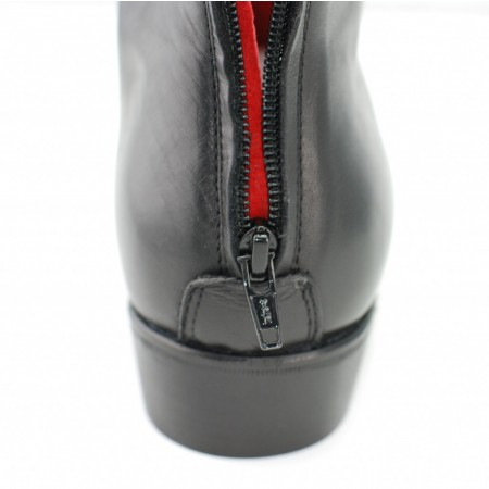 Sale : Back Zip Boot - Black Calf Leather-45 (UK 11 / US 11.5)