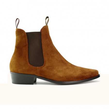 Sale : Classic Boot - Tan Italian Suede-48 (UK 14 / US 14.5)