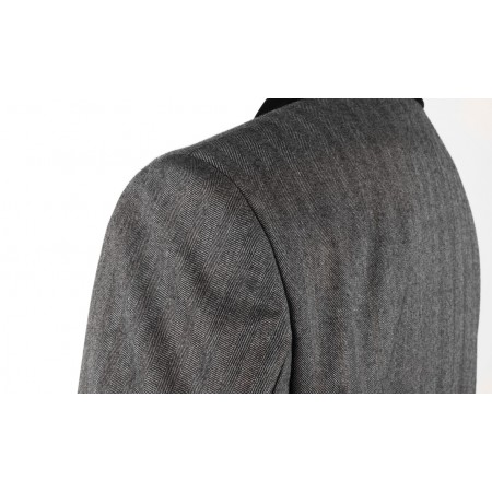*Final Sale : Lennon Frock Coat - Grey Herringbone