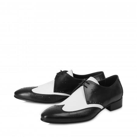 The Monochrome Shoe - Back & White Leather