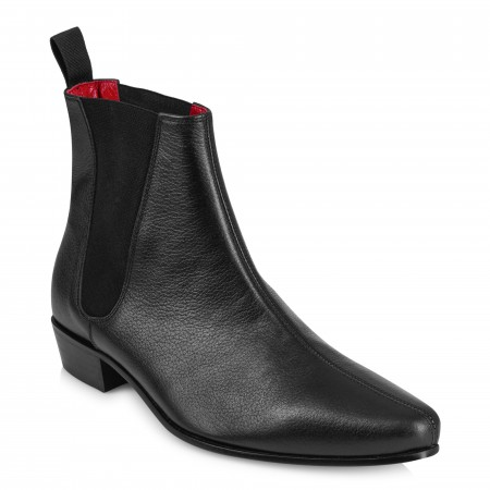 Low Cavern Boot - Black Grain Leather
