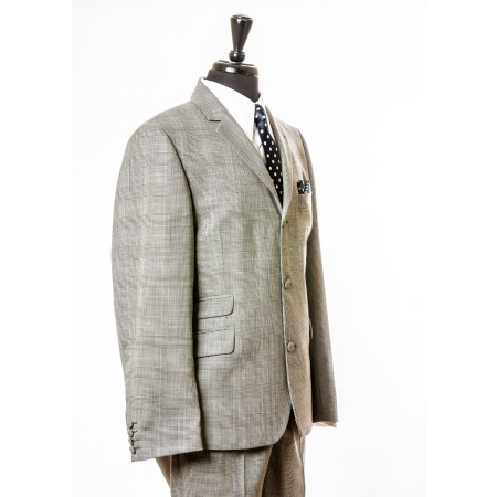 The Prince of Wales Check Mod Jacket - Grey