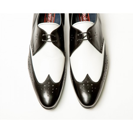 Archie Eyebrows : Luis Shoe - Black & White Box Calf