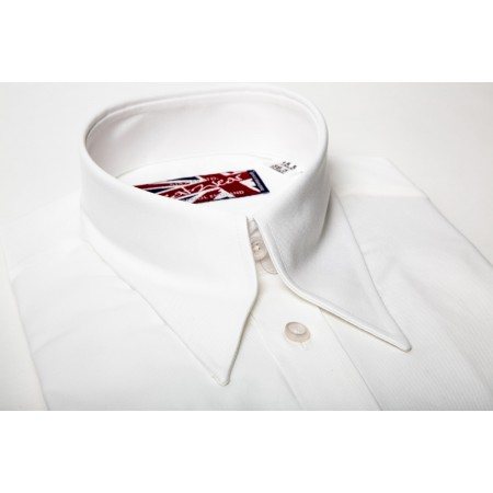 Long Collar Hidden Button Down
