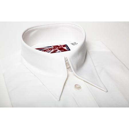 Long Collar Hidden Button Down