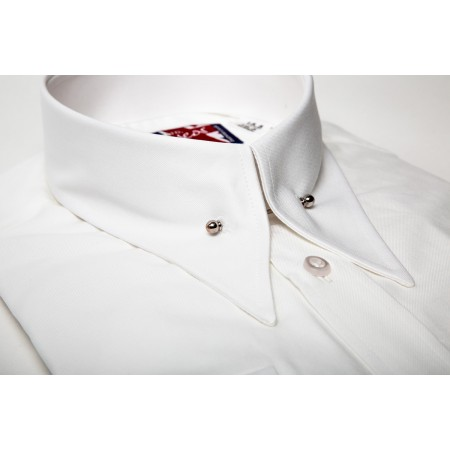 Long Pointed Collar With Pin Shirt