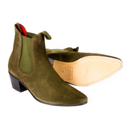 Sale : Original Chelsea Boot - Military Sage Green Suede-40 (UK 6 / US 6.5)