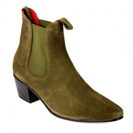 Sale : Original Chelsea Boot - Military Sage Green Suede-40 (UK 6 / US 6.5)
