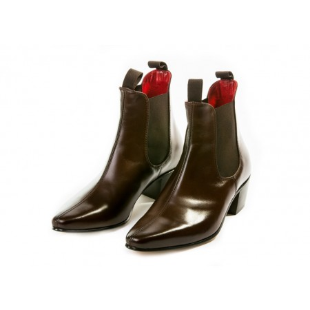 Sale : Original Chelsea Boot - Vintage Dark Brown Leather-45.5 (UK 11.5 / US 12)