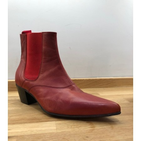 Ex-Display: Winkle Picker Red Leather Size Euro 41