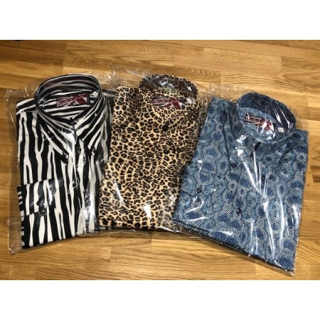 Sample Sale : Zebra - Long Pointed B/D SGL Cuff Shirt