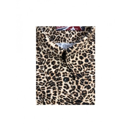 Sample Sale : Leopard - Long Pointed SGL Cuff Shirt