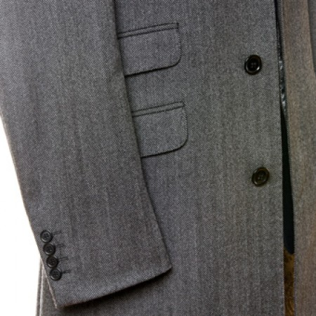 The Chesterfield Overcoat  - Charcoal Grey