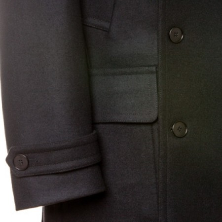 The Paul Pea Coat - Black Italian Wool
