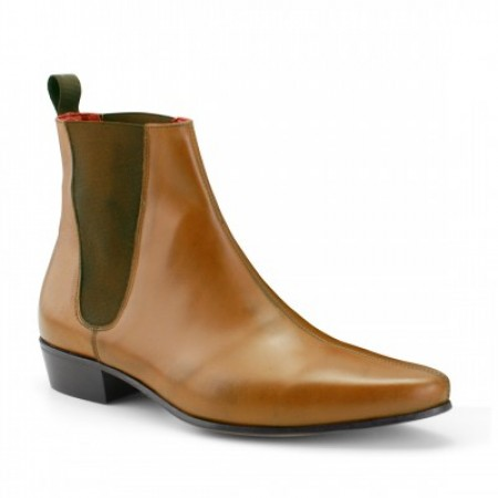 Sale : Low Cavern Boot - Vintage Tan Leather (old)-47.5 (UK 13.5 / US 14)
