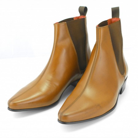 Sale : Low Cavern Boot - Vintage Tan Leather (old)-46.5 (UK 12.5 / US 13)