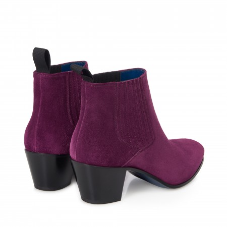 Reduced Sale Price : Ringo Boot - Plum Suede