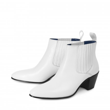 Ringo Boot - White Calf Leather