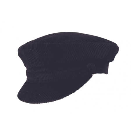 Black Mariner Cord Cap - Large