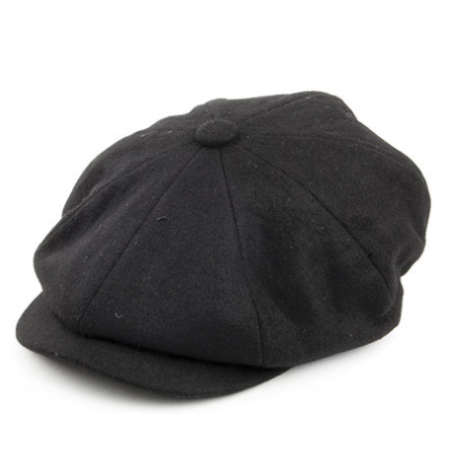 Black Bakerboy Hat - Extra Large