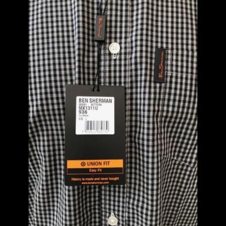60's Outlet - Ben Sherman Shirt Black Check Size Large
