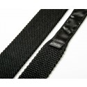 Plain Black Silk Skinny Knitted Tie