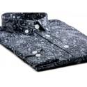 Sale : Black Paisley Mod Button Down Shirt