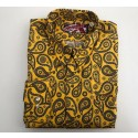 "Sample Sale : Ochre Paisley Shirt 15.5"" neck"