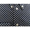 "Sample Sale : Dark Blue Polka Dot Shirt 15.5"" neck"