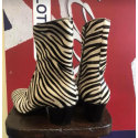 Discontinued Finish : The DC5 Boot - Zebra Print Leather
