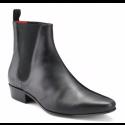 Stock shot of Beatwear Low Cavern Black Calf Boot