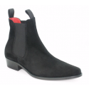 Stock shot of Beatwear Classic Boot in Black Suede