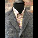 Sample Sale : Grey Check Lennon Frock Coat 40R