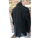 Sample Sale : Black Wool Pea Coat 42R