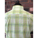 60's Outlet - Lambretta Shirt Lime Check Size Medium