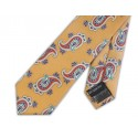 Vintage Gold With Red Paisley Silk Skinny Tie
