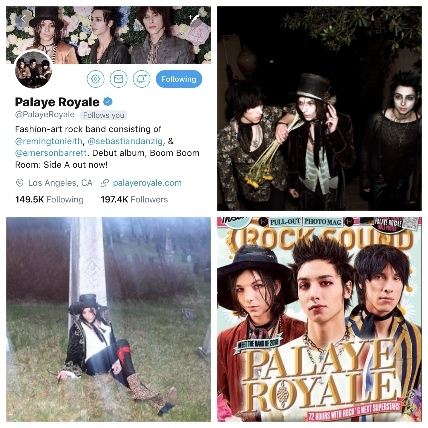 Palaye Royale Social Media Images