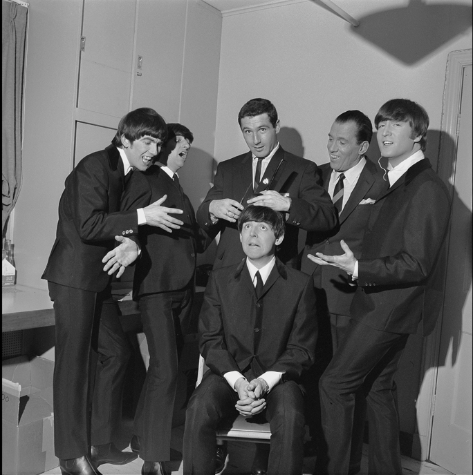 Beatles backstage at The Ed Sullivan Show